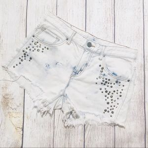 Urban Outfitters Acid Wash Embellished Shorts